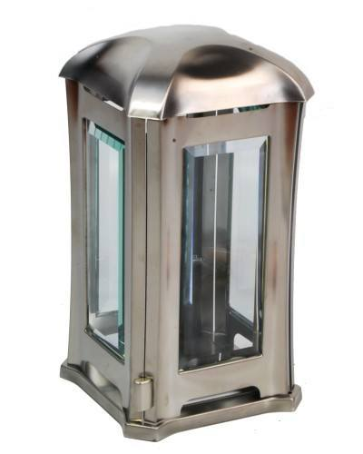 Hochwertige Grablampe aus Edelstahl, poliert