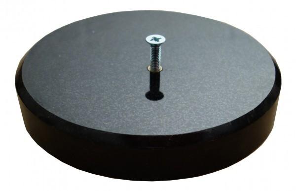 Sockel aus Granit Impala schwarz, Durchmesser 15 cm