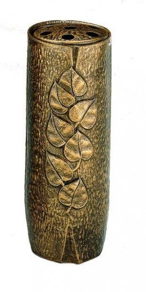 Grabvase Adele, bronzefarben