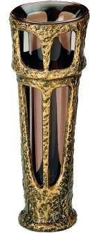 Grabvase Abra, bronzefarben