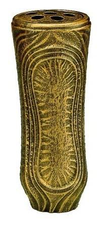 Grabvase Addy, bronzefarben