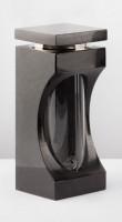 Grablaterne aus Granit, schwarz, 26 cm hoch