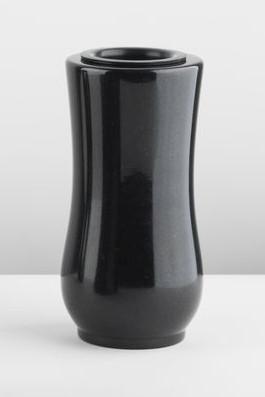 Granitvase, schwarz, 22 cm hoch
