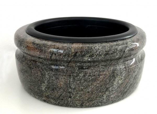 Große Granit-Grabschale, 33 cm Durchmesser
